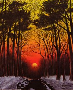WINTER SUNSET by Leo McRee