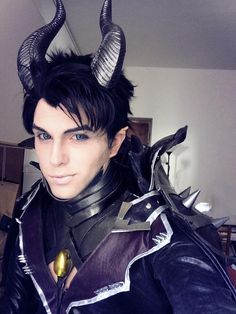 Maleficent Genderswap Cosplay, Sakimichan Design by hakucosplay.deviantart.com on @DeviantArt WOW!!