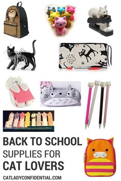 Back to School Supplies for Cat Lovers