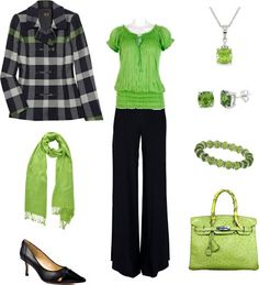 I don't normally like lime green, but I love this outfit!
