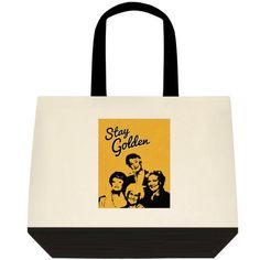 STAY GOLDEN The Golden Girls Canvas Tote Book Bag Shopper Purse  #Unbranded #ToteBag