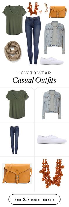 """""""Casual Spice and Everything Nice"""" by ncnikkijam on Polyvore featuring Gap, Vans, Old Navy, rag & bone, Kenneth Jay Lane and Johnny Loves Rosie"""