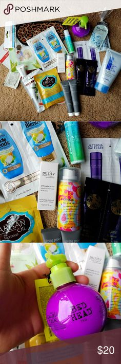 "BUNDLE of beauty products! I will be giving all of this away for free with a $35+ purchase! (This week only!) Just leave me a comment saying ""Bundle Please"" on the item you purchase and I will add all of this to your order!  All brand new!!! I have switch to mostly all natural beauty products so I do not use any of this anymore. (Hair masks, face masks, dry shampoo, conditioner, hair removal cream, etc..) Feel free to leave a comment if you have any questions! 😊 Makeup Brushes & Tools"