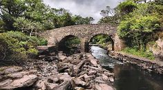 This bridge and stream at Killarney National Park is just a snapshot of the beauty to be found at Ireland's first park of its kind, founded in 1932. The park covers 102.89 km2 (25,425 acres) encompassing diverse ecology, including the Lakes of Killarney (see the photo below), oak and yew woodlands of international importance, and mountain peaks.