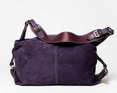 Handbag Paris full grain leather suede/ by styleSOoriginal on Etsy love this bag for wk
