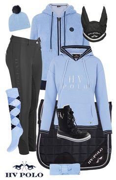 HV Polo Black - Sky Blue #horsefashion #horse #epplejeck #hvpolo #wintercollection