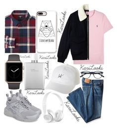 """I Love You Beard"" by karilooks ❤ liked on Polyvore featuring Uniqlo, NIKE, Levi's, Polo Ralph Lauren, Lacoste, Hermès, HUF, Casetify, Beats by Dr. Dre and men's fashion"