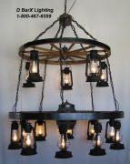 Rustic Lantern Lights, Wagon Wheel Chandeliers, Antler Lighting