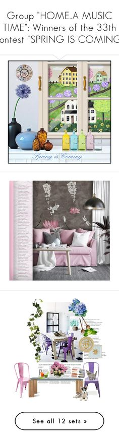 """""""Group """"HOME..A MUSIC TIME"""": Winners of the 33th contest """"SPRING IS COMING"""""""" by nicolevalents ❤ liked on Polyvore featuring interior, interiors, interior design, home, home decor, interior decorating, Home Decorators Collection, contemporary, Tolix and Roche Bobois"""