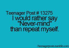 Yeah..sometimes