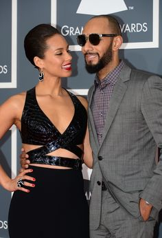 Grammy Awards 2013, Alicia Keyes and Swizz Beat.