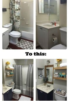 Light Bright Guest Bathroom Makeover The Reveal Pinterest - Tiny bathroom makeover