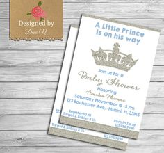 Baby shower invite glitter baby shower Little by DesignedbyDaniN
