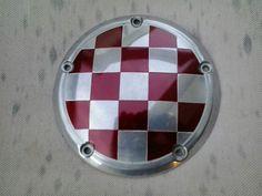 Custom made Harley derby cover with Croatian emblem