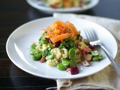 The perfect summer meal: Marinated Fava Beans and Radishes with Millet, Wholeliving.com