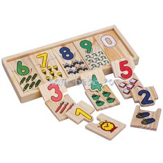 Puzzle lemn Montessori Matematica Cifre