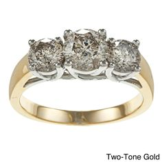 Auriya 14k Gold 1 3/4ct TDW Diamond 3-stone Engagement Ring