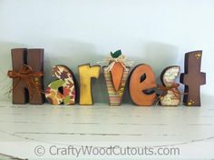 Thanksgiving Harvest Unfinished Wood Craft from Crafty Wood Cutouts