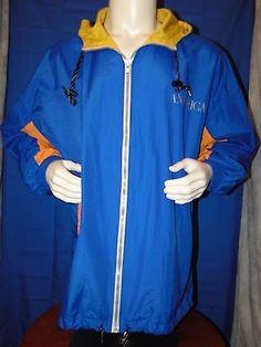 PERRY ELLIS AMERICA Men's JACKET Windbreaker 2XL Blue Yellow in Clothing, Shoes & Accessories | eBay