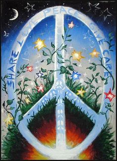 ☮ American Hippie Psychedelic Groovy Art ~ Peace Sign