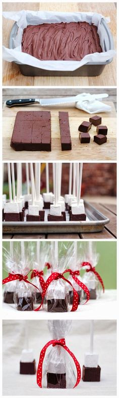 Fudge on a stick? Swirl these blocks into a mug of hot milk and enjoy luscious hot chocolate. In need of a creamy chocolate fix? Nibble the ...