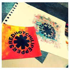 Red hot chilipepper fan art. Acrylic on paper  Instagram: @jade_king_art