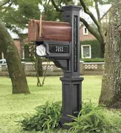 Copper Finish Mailbox, Mailbox Post And Personalized Signs love this