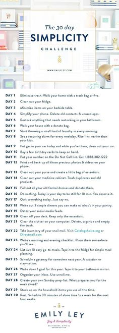 30 easy, tactical steps to your best life. Join our Simplicity Challenge today! … 30 easy, tactical steps to your best life. Join our Simplicity Challenge today! House Cleaning Tips, Spring Cleaning, Cleaning Hacks, Minimalism Challenge, Fee Du Logis, Life Hacks, 30 Tag, Vie Simple, Minimalist Lifestyle