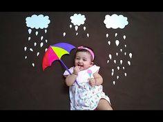 Monsoon Special Baby Photoshoot idea at Home Monthly Baby Photos, Newborn Baby Photos, Baby Girl Photos, Funny Baby Photography, Newborn Baby Photography, Children Photography, One Month Baby, Easy Diy, Family Posing