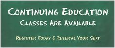 Call 661-324-4063 or email marketing@smbakersfield.com to find out more about our CE classes!