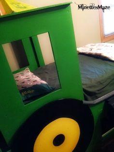 John Deere Room- with a DIY Tractor Bed