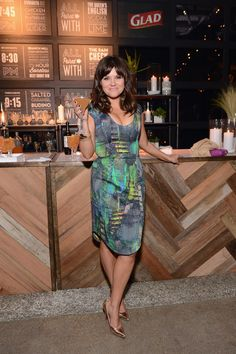 Tiffani Thiessen  I love this dress! I think I'm obsessed with her:-)