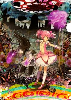 Poster 2 (Mahou Shoujo Madoka Magica the Movie: Part 2 Eternal) - the movie looks epic, I read the manga though I Love Anime, All Anime, Anime Manga, Anime Art, Tomoe, Madoka Magica, Upcoming Anime, Sayaka Miki, Deadman Wonderland