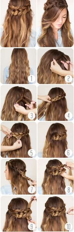 How To Wrap Around Braid. So cute! How To Wrap Around Braid. So cute! The post How To Wrap Around Braid. So cute! appeared first on Frisuren Bob. Easy Work Hairstyles, Braided Crown Hairstyles, Romantic Hairstyles, Wedding Hairstyles, Winter Hairstyles, Trendy Hairstyles, Hairstyles Haircuts, Hairstyle Short, Gorgeous Hairstyles
