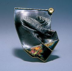 I love the fold forming and reticulation used! Beautiful. Harold O'Connor, Artist, brooch