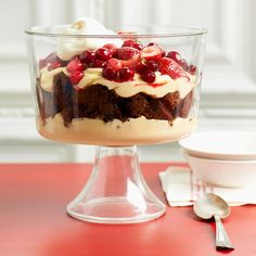 White Chocolate-Gingerbread Trifle. I made this beautiful and delicious dessert for our Christmas dinner!