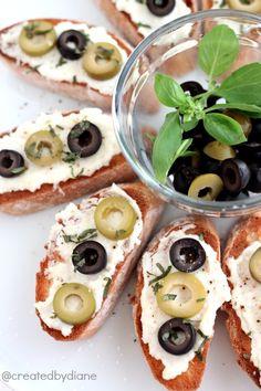 Olive Crostini @createdbydiane #calripeolives