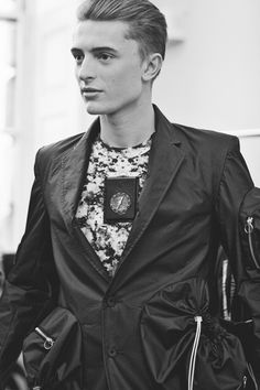 Backstage at Matthew Miller AW12, London Fashion Week.Max Rendell at Elite by Cecilie Harris.