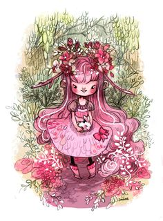 Rose Pomme by sanoe on DeviantArt Illustration Story, Art Archive, Art Reference, Childrens Books, Fairy Tales, Character Design, Pastel, Kawaii, Deviantart