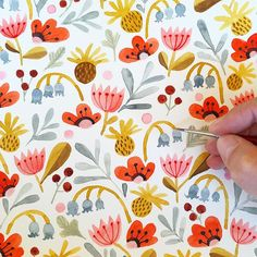 Adding to the pattern again. This is really relaxing!  #Flowers #floral…
