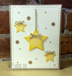 Stampin Up Star Framelit card, circles punched with the Stampin Up Owl Punch - created by Wendie Bee of Stamp Right Up