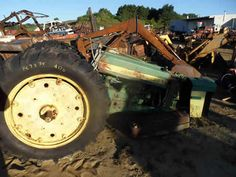 John Deere 620 tractor salvaged for used parts. This unit is available at All States Ag Parts in Downing, WI. Call 877-530-1010 parts. Unit ID#: EQ-24696. The photo depicts the equipment in the condition it arrived at our salvage yard. Parts shown may or may not still be available. http://www.TractorPartsASAP.com