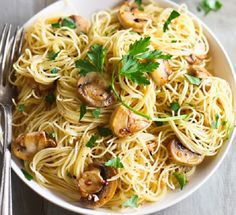 In a medium-size frying pan, heat oil over moderately low heat. Add garlic and…