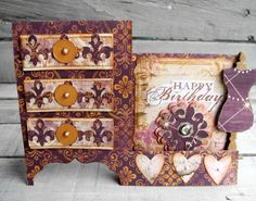 Crafting ideas from Sizzix UK: Dresser card
