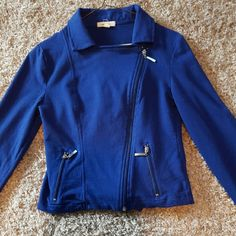 Royal blue jacket Super cute royal blue zipper up jacket!!! Wore one time!!  Make me an offer!?? Love Culture Jackets & Coats