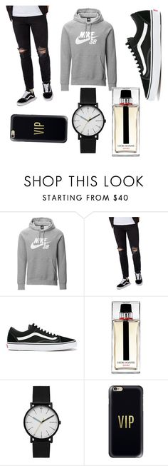 """""""Shopping :P"""" by benhemmings on Polyvore featuring NIKE, Topman, Vans, Christian Dior, Skagen, Casetify, men's fashion and menswear"""