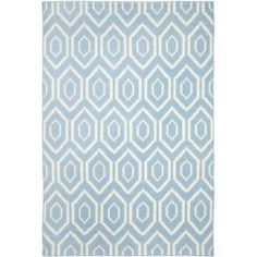 @Overstock - Moroccan inspired design and dense hand-woven wool pile highlight this handmade dhurrie rug. This floor rug has a blue background and displays stunning panel colors of ivory.http://www.overstock.com/Home-Garden/Moroccan-Dhurrie-Blue-Ivory-Wool-Rug-8-x-10/6830733/product.html?CID=214117 $350.19