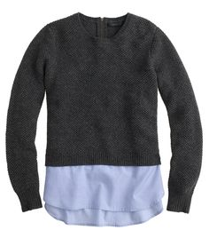 J.Crew's Awesome Layered Sweaters Are 25% Off Until Tomorrow! via @WhoWhatWear
