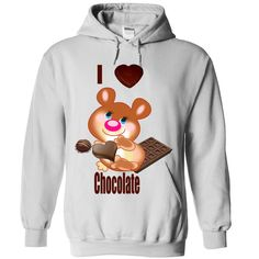 i love chocolate T-Shirts, Hoodies. Get It Now ==> https://www.sunfrog.com/Christmas/i-love-chocolate-2401-White-Hoodie.html?id=41382