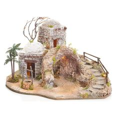 Christmas Crib Ideas, Christmas Nativity, Christmas Crafts, Christmas Decorations, Xmas, Nativity Stable, Medieval Houses, Ceramic Houses, Christmas Pajamas